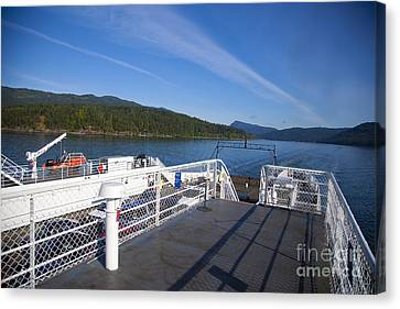 Ferry With Maxwell Canvas Print by Graham Foulkes