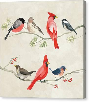 Festive Birds I Canvas Print by Danhui Nai
