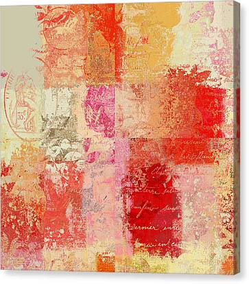 Feuilleton De Nature - S01t02a Canvas Print by Variance Collections