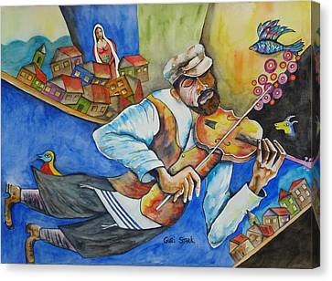 Fiddler On The Roofs Canvas Print by Guri Stark