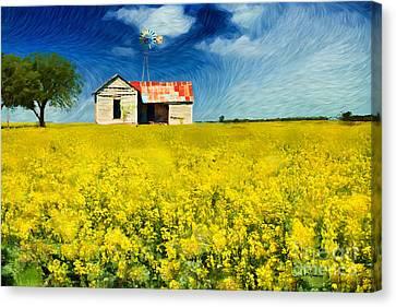 Field Of Dreams Canvas Print by Betty LaRue