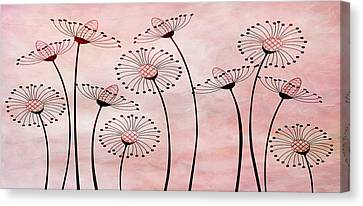 Field Of Flowers Within 3 Canvas Print by Angelina Vick