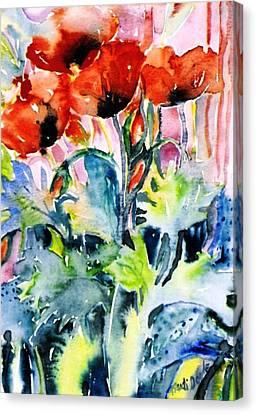 Field Poppies Canvas Print by Trudi Doyle