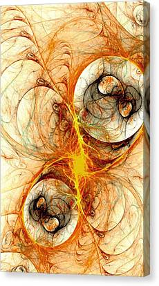 Fiery Birth Canvas Print by Anastasiya Malakhova