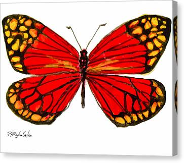 Fiery Butterfly Canvas Print by Patricia Allingham Carlson