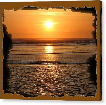 Fiery Cannon Beach Sunset Canvas Print by Will Borden