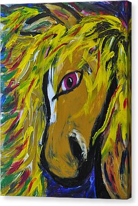 Fiery Steed Canvas Print by JAMART Photography