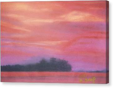 Fiery Sunset Canvas Print by Robert Bray