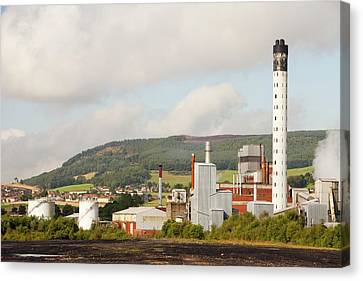 Fife Power Station A Gas Turbine Canvas Print by Ashley Cooper
