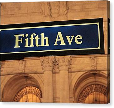 Fifth Avenue Canvas Print by Dan Sproul