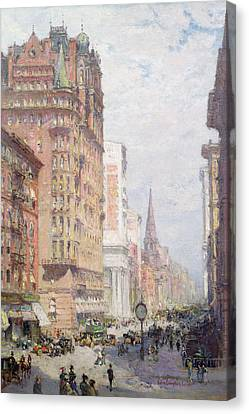 Fifth Avenue New York City 1906 Canvas Print by Colin Campbell Cooper