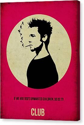 Fight Club Poster Canvas Print by Naxart Studio
