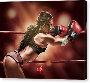 Fight Night Canvas Print by Pete Tapang