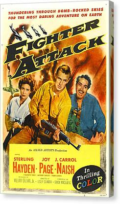 Fighter Attack, Us Poster, From Left Canvas Print by Everett