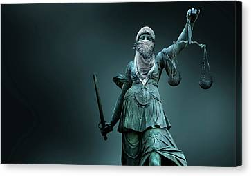 Fighting For Justice Canvas Print by Smetek