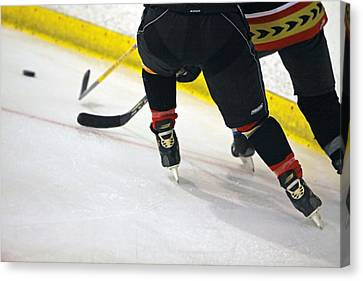 Fighting For The Puck Canvas Print by Shoal Hollingsworth