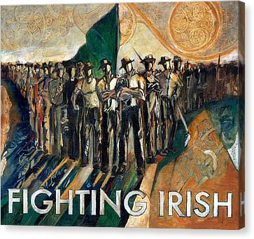 Fighting Irish Pride And Courage Canvas Print by Revere La Noue