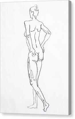 Figure Drawing Study I  Canvas Print by Irina Sztukowski