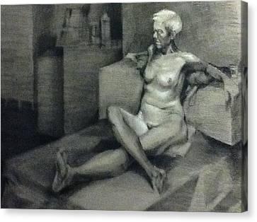 Figure No 2  Canvas Print by Julie Orsini Shakher