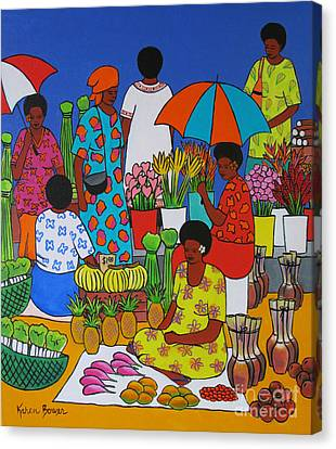 Fiji Market Canvas Print by Karen Bower