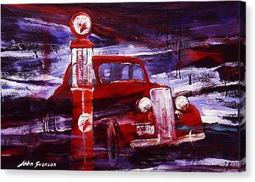 Fill Er Up 1935 Canvas Print by John  Svenson