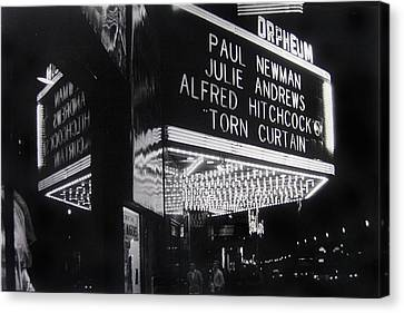 Film Homage Alfred Hitchcock Torn Curtain 1966 Orpheum Theater St. Paul Minnesota 1966 Canvas Print by David Lee Guss