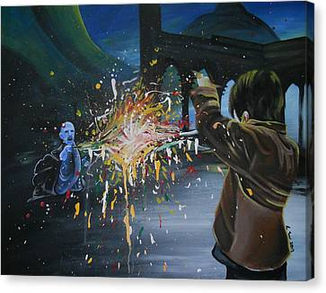 Final Battle Canvas Print by Lisa Leeman