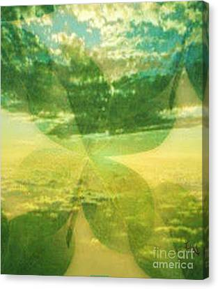 Finding Your Clover Canvas Print by PainterArtist FIN