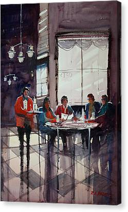 Fine Dining Canvas Print by Ryan Radke
