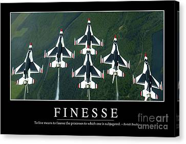 Finesse Inspirational Quote Canvas Print by Stocktrek Images