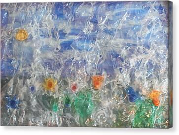 Finestra Su Eco Giardino Canvas Print by Andrea Cola