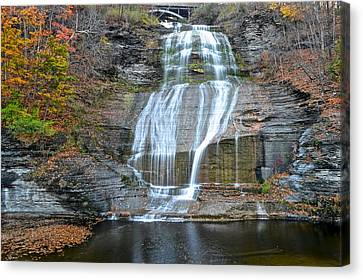 Finger Lakes Water Cascade Canvas Print by Frozen in Time Fine Art Photography