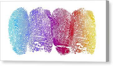 Finger Prints Canvas Print by Aged Pixel