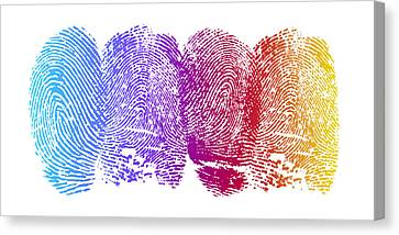 Finger Prints Canvas Print by Aged Pixel