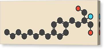 Fingolimod Drug Molecule Canvas Print by Molekuul