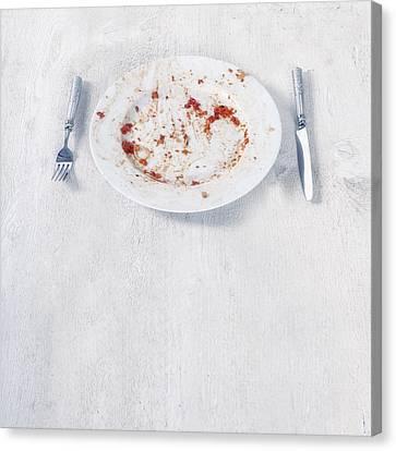 Finished Plate Canvas Print by Joana Kruse