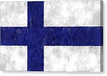 Finland Flag Canvas Print by World Art Prints And Designs