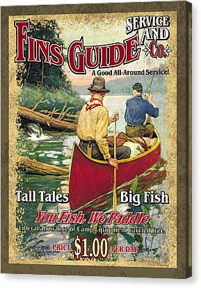 Fins Guide Service Canvas Print by JQ Licensing
