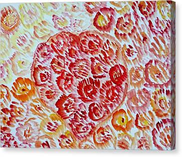 Fioritura Amore Canvas Print by Sonali Gangane