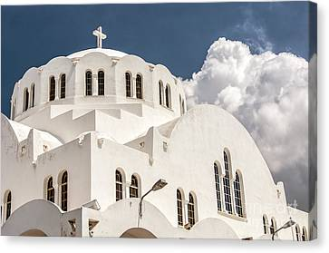 Fira Orthodox Metropolitan Cathedral 04 Canvas Print by Antony McAulay