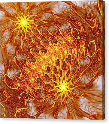 Fire And Flames Canvas Print by Anastasiya Malakhova