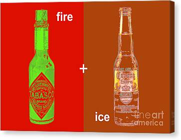 Fire And Ice 20130405 Canvas Print by Wingsdomain Art and Photography