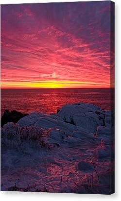 Fire And Ice Canvas Print by Benjamin Williamson