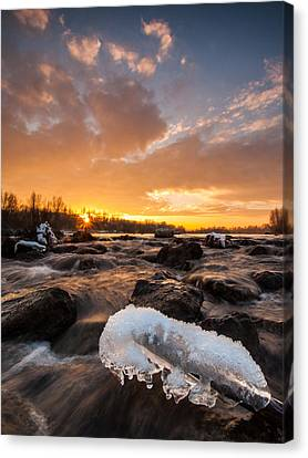 Fire And Ice Canvas Print by Davorin Mance