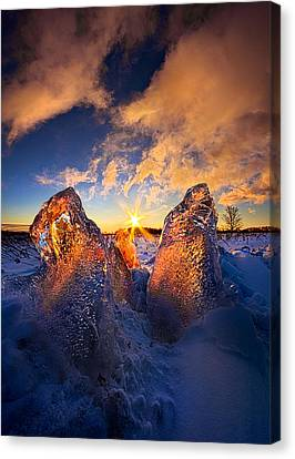 Fire And Ice Canvas Print by Phil Koch