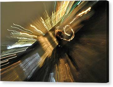 Fire And Lights Canvas Print by Frederico Borges