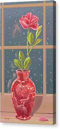 Fire And Rain Canvas Print by J L Meadows