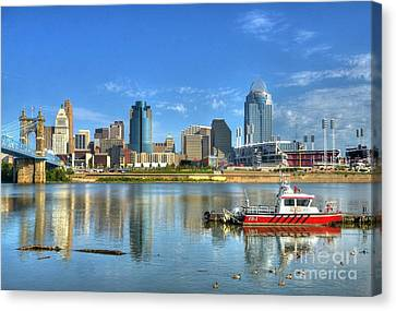 Fire Boat 1 Canvas Print by Mel Steinhauer