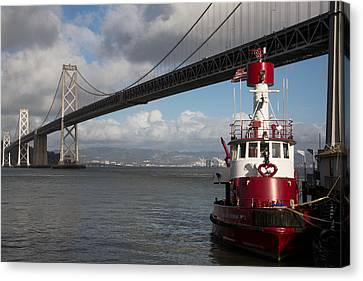 Fire Boat #2 Canvas Print by John Daly