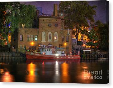 Fire Boat On Cuyahoga River Canvas Print by Juli Scalzi